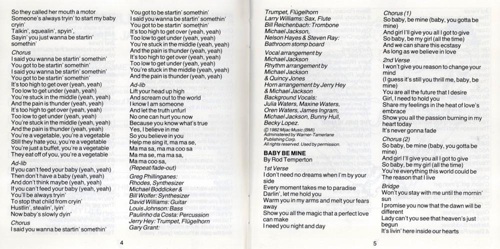 michael jackson thriller lyrics