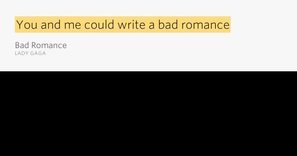 Lady GaGa - Bad Romance Lyrics