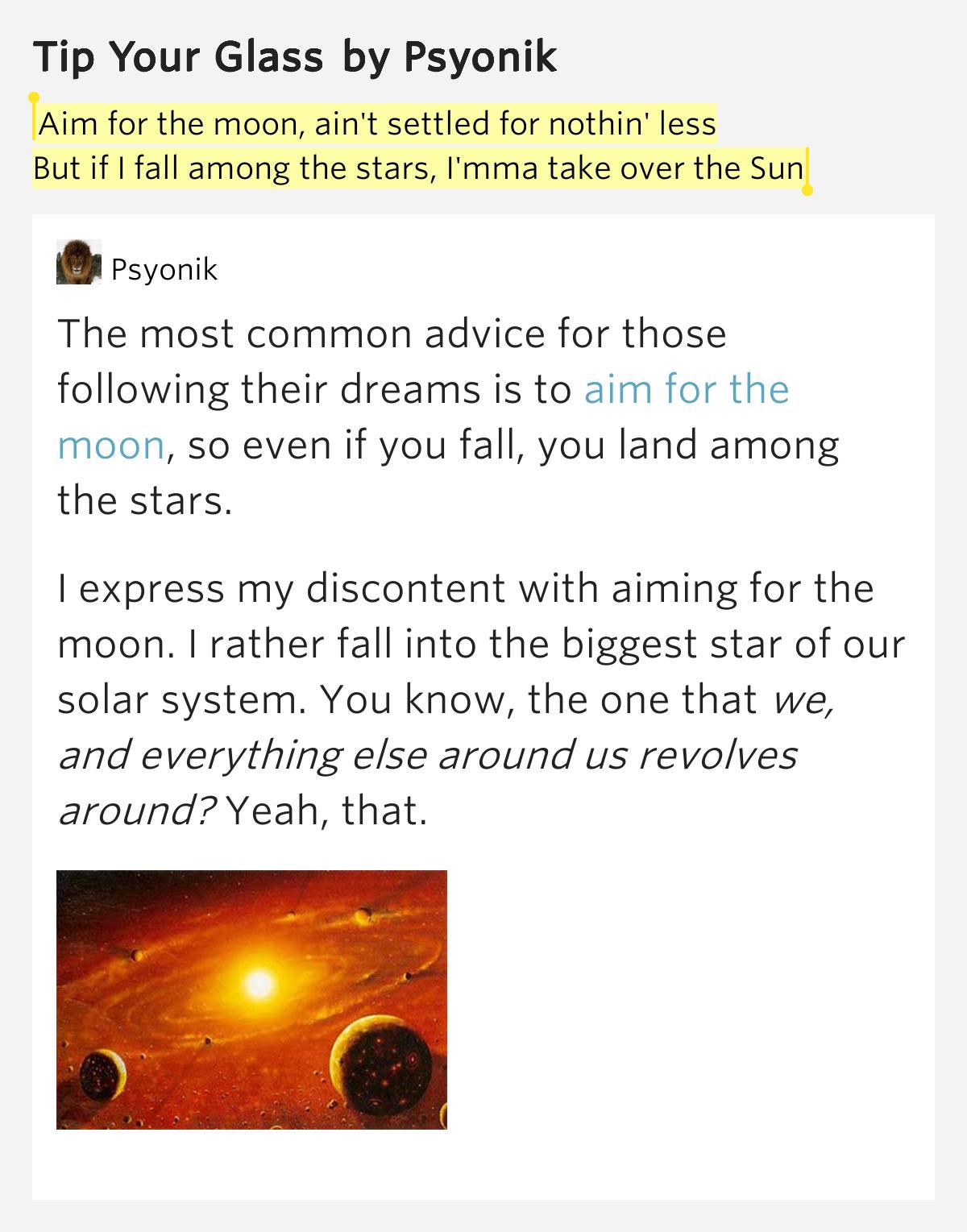Ryan Keen – Aiming for the sun Lyrics | Genius Lyrics