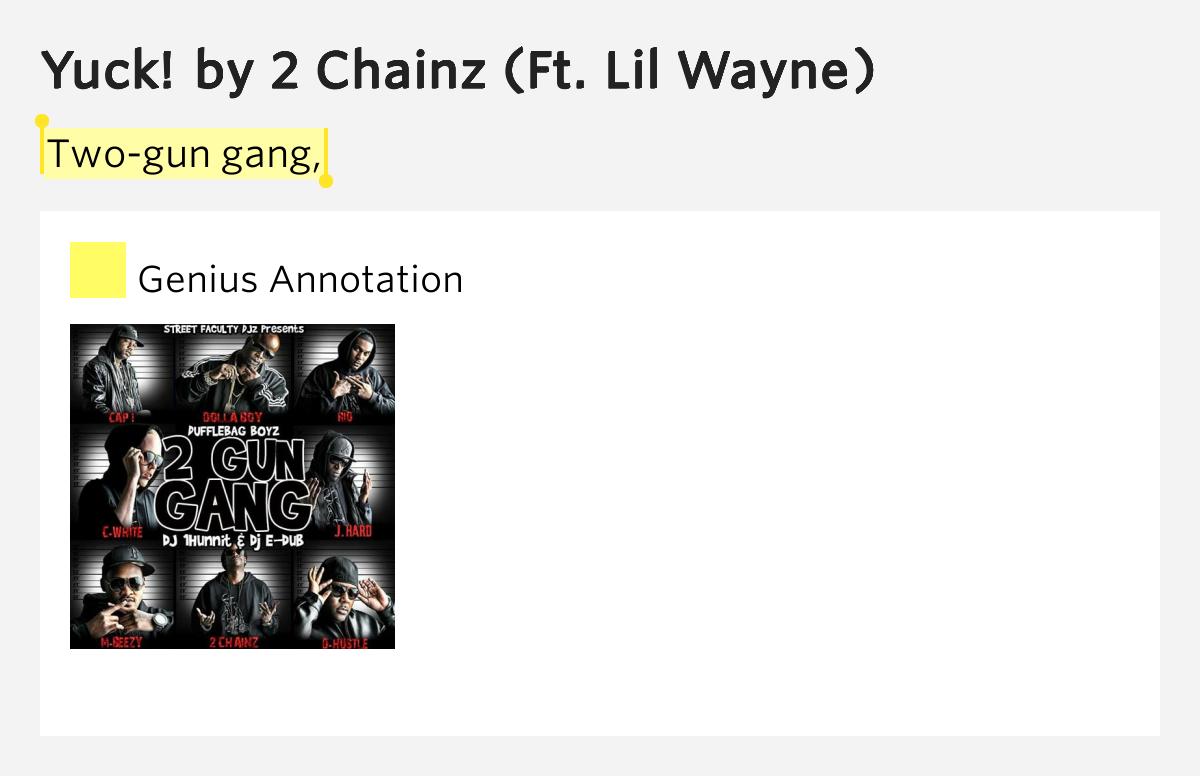 2 Chainz LYRICS - Yuck! (feat. Lil Wayne) Lyrics