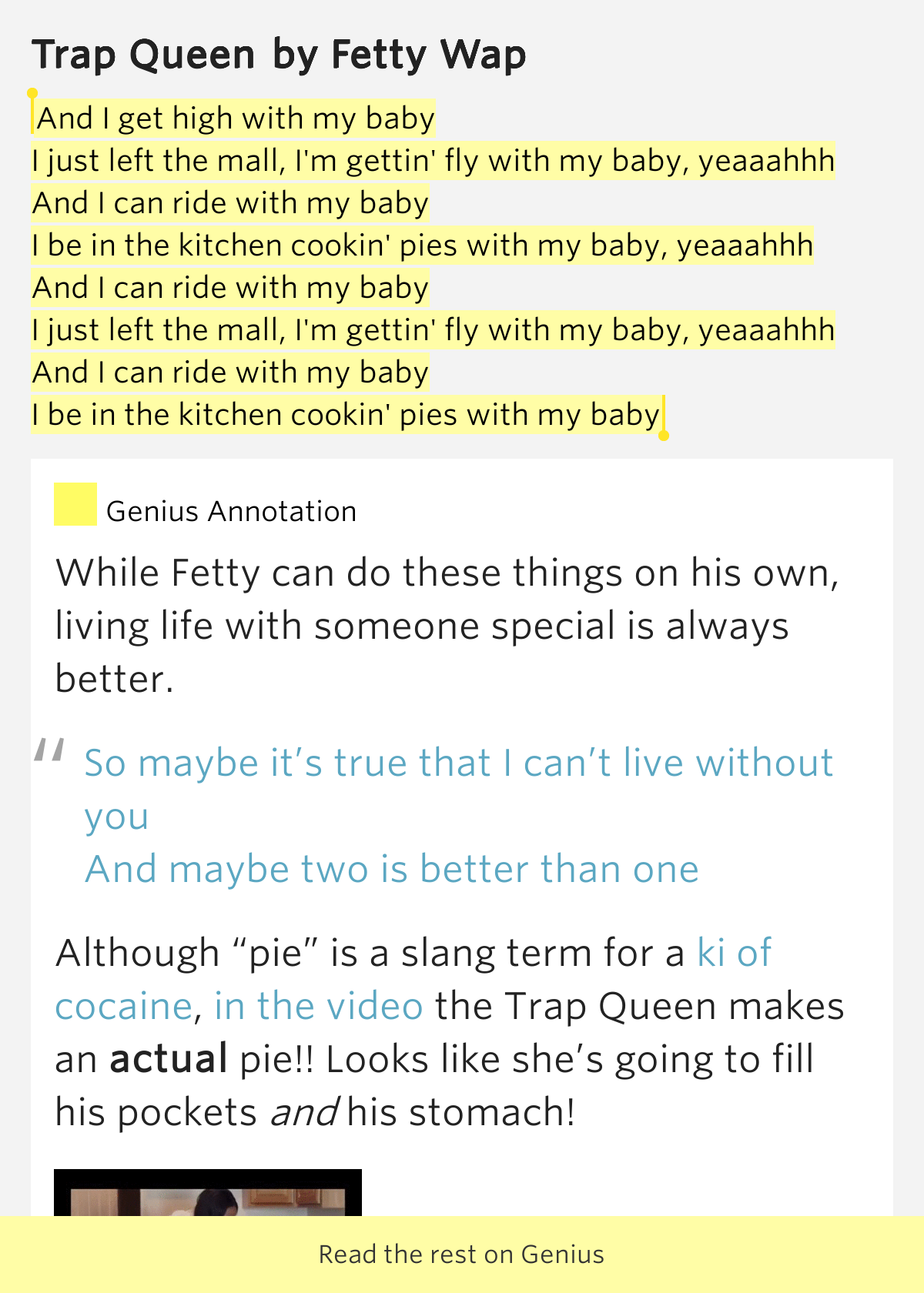 Trap queen lyrics meaning