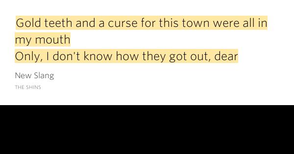 The Shins – No Way Down Lyrics | Genius Lyrics