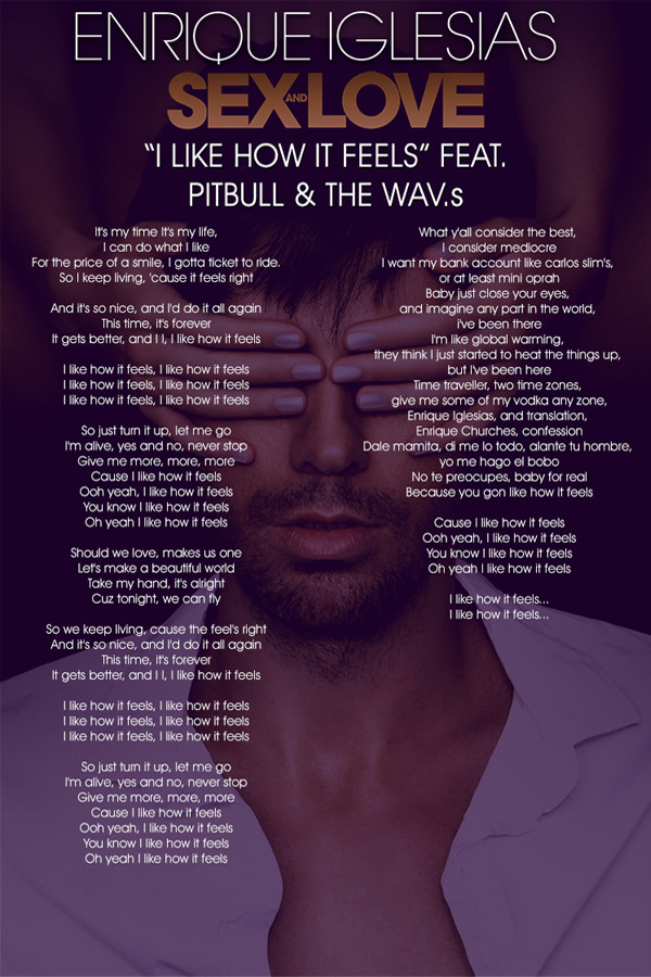 This video is processing     it ll appear automatically when it s done    Enrique Iglesias I Like How It Feels Lyrics