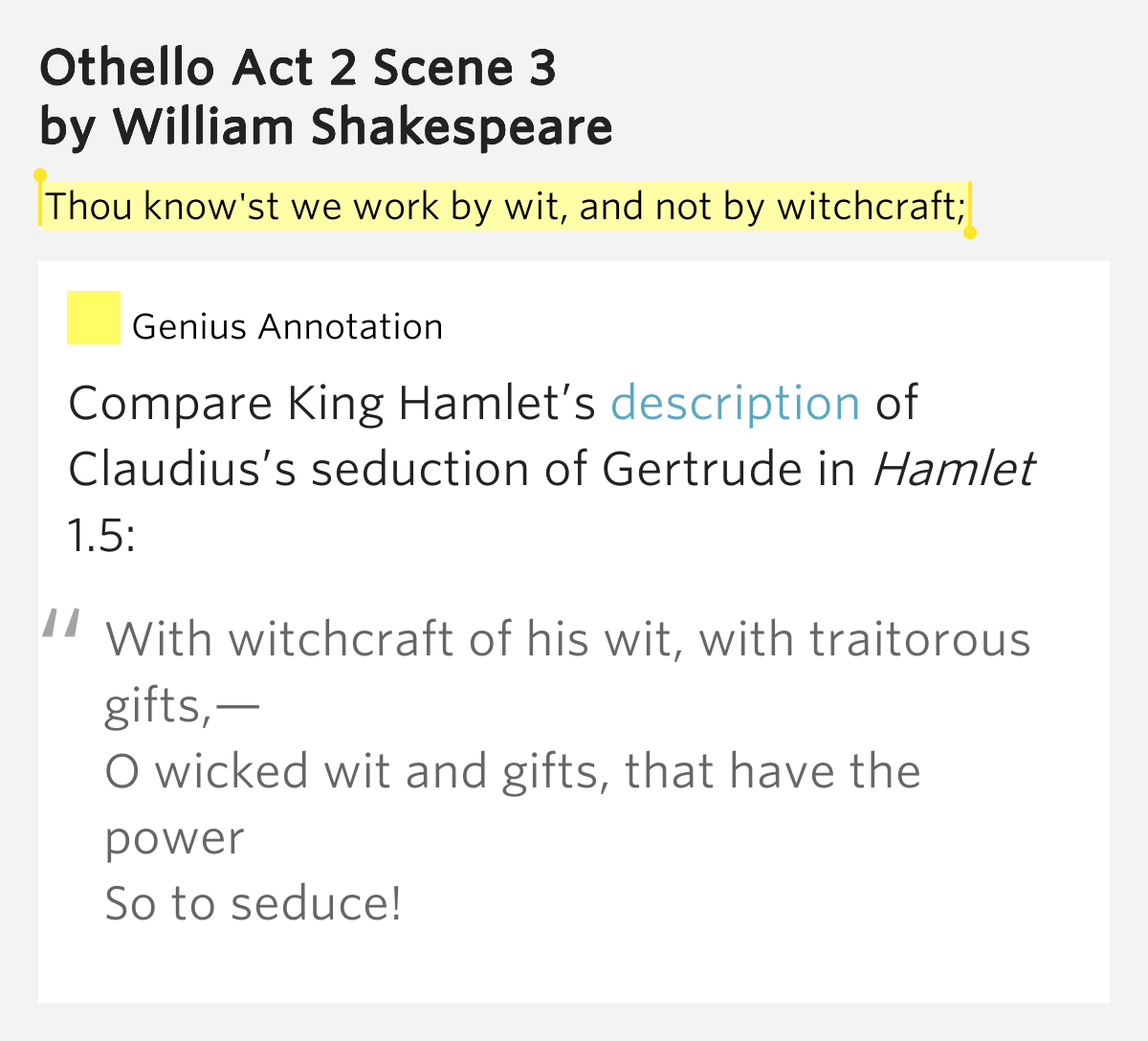 o and othello comparison After watching both othello and o, i felt that o was not really a modernized version of othello but a separate project instead it is an adaptation of sorts, similar to macbeth being adapted into throne of blood.