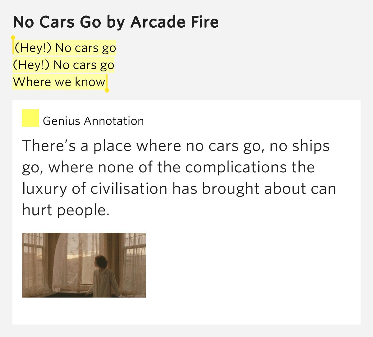 (Hey!) No Cars Go / (Hey!) No Cars Go / Where We Know