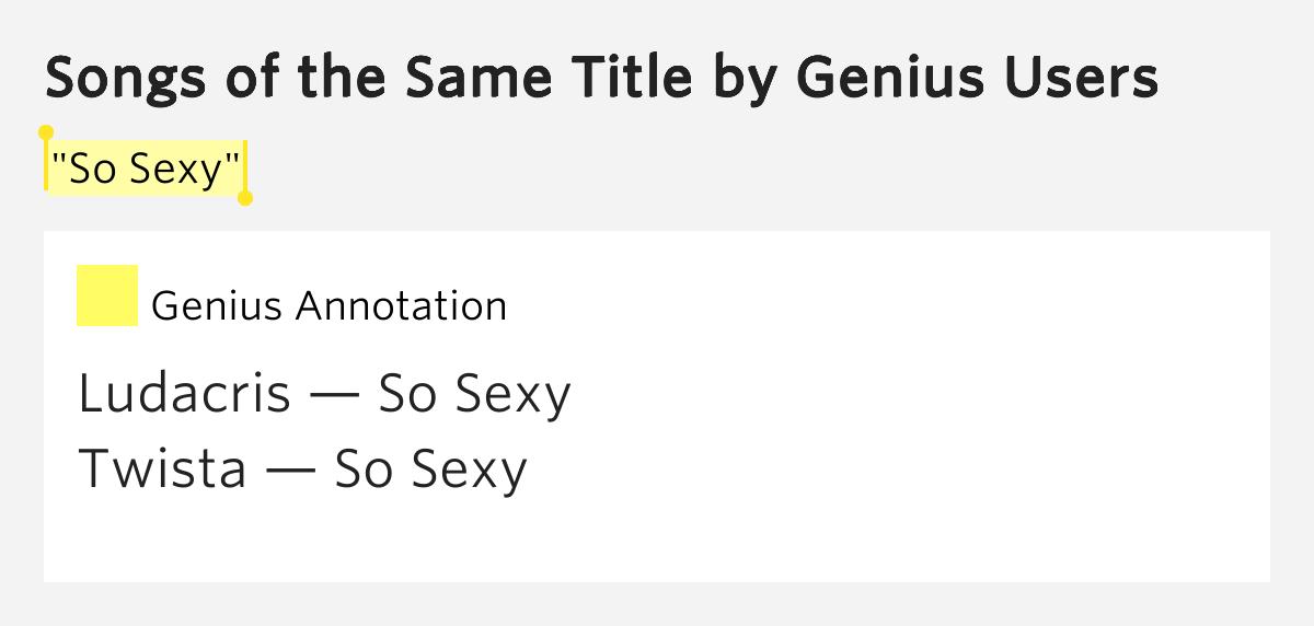 TWISTA - SO SEXY LYRICS - SONGLYRICScom