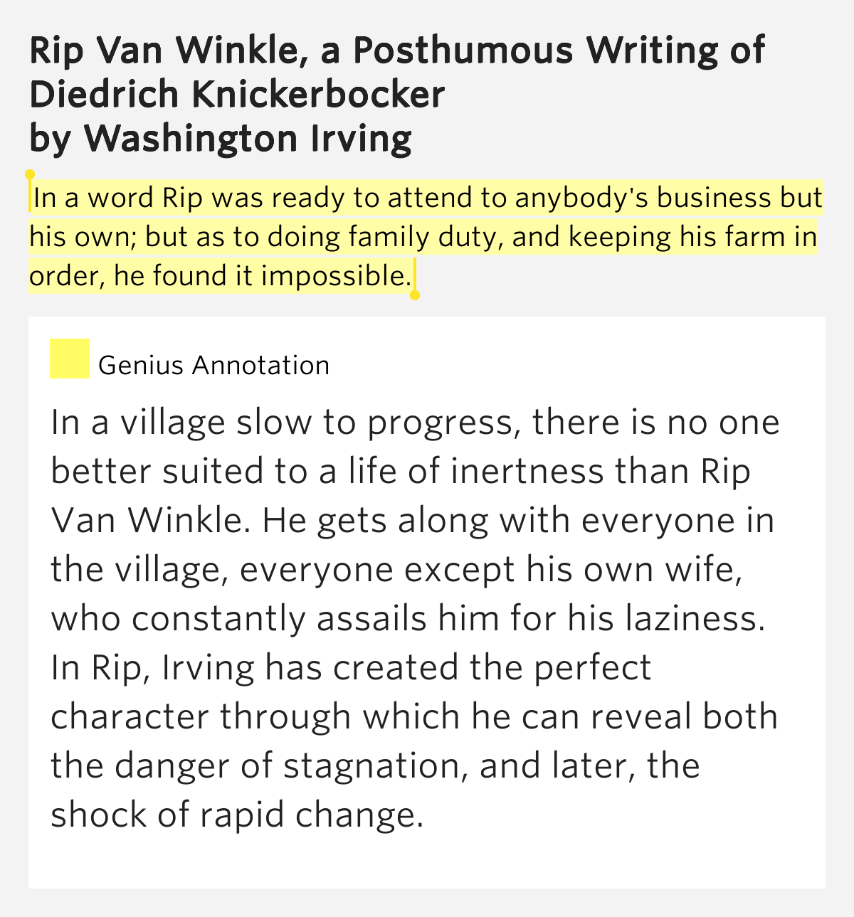 rip van winkle term paper Rip van winkle term paper while the free essays can give you inspiration for writing, they cannot be used 'as is' because they will not meet your assignment's.