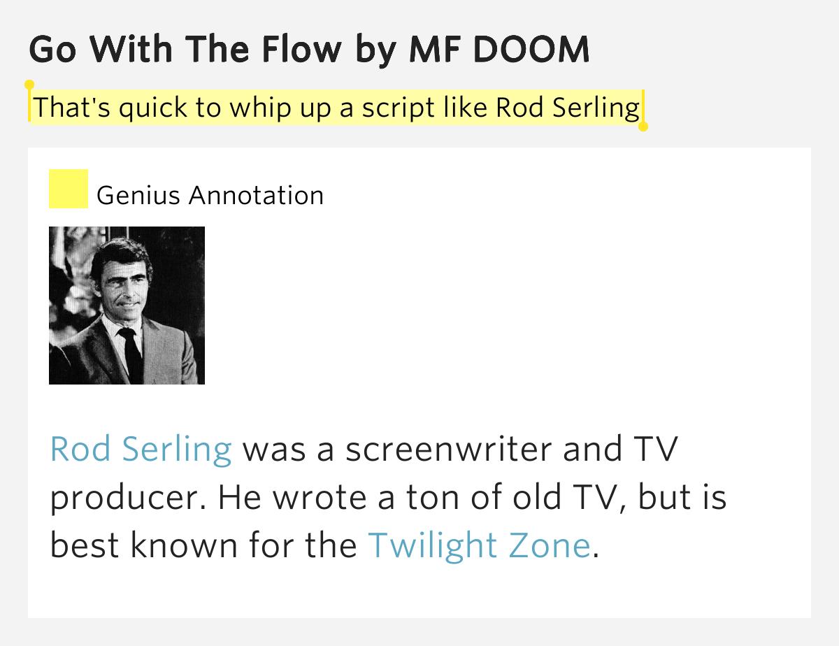 MF Doom - Go With The Flow Lyrics | MetroLyrics