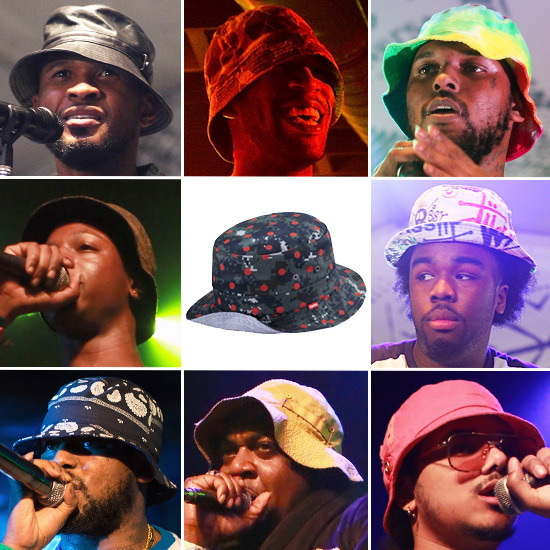 Bucket Hats are the kind of hats http://genius.com/artists ...