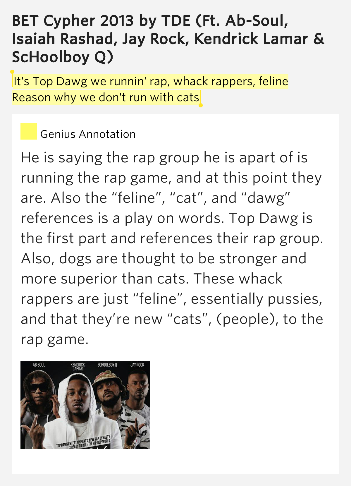 the game - cats and dogs (feat. kobe) lyrics
