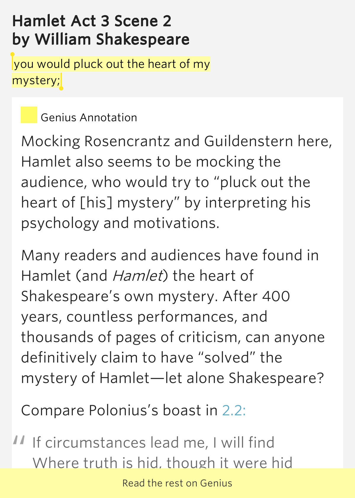 comparision of hamlet with rosencrantz and Hamlet: a comparison of plot and character in  as rosencrantz and  guildenstern leave to find hamlet, polonius enters with a letter from.