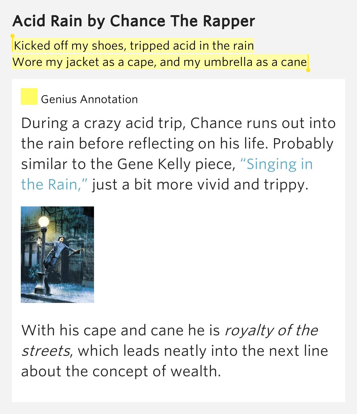 CHANCE THE RAPPER - ACID RAIN LYRICS