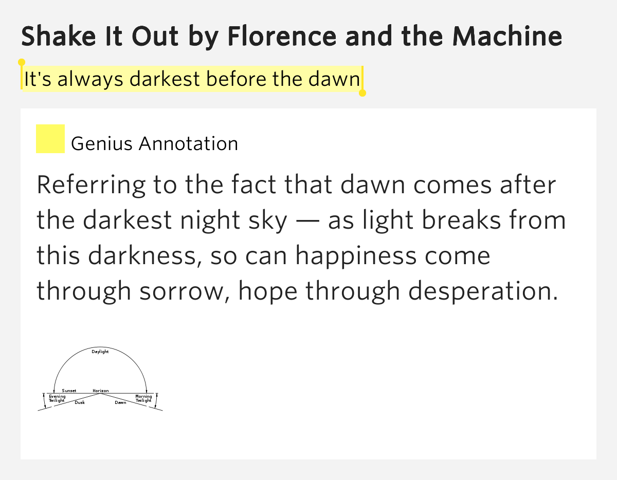 shake it out florence and the machine meaning