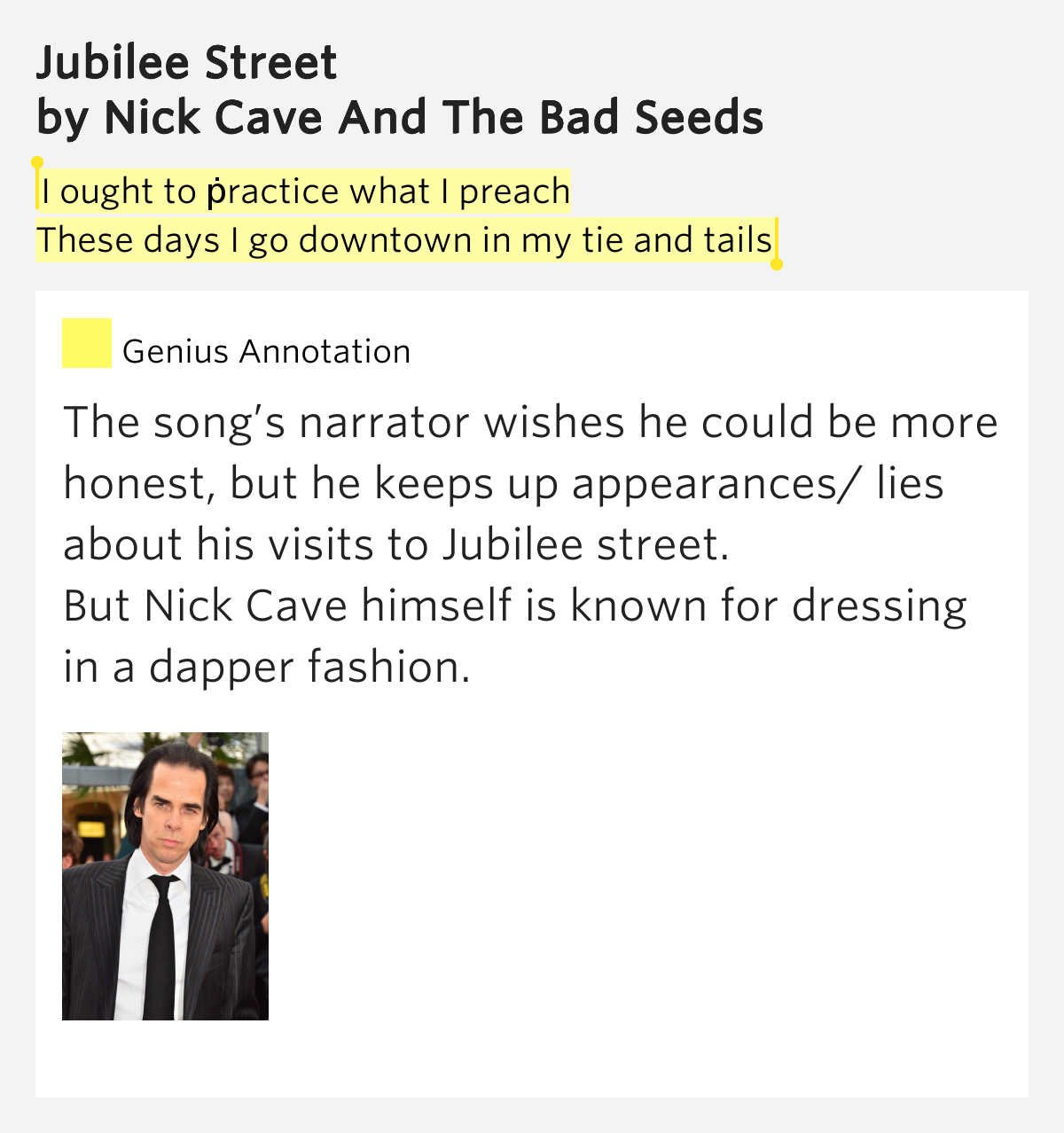 Nick Cave and the Bad Seeds- Jubilee Street - YouTube
