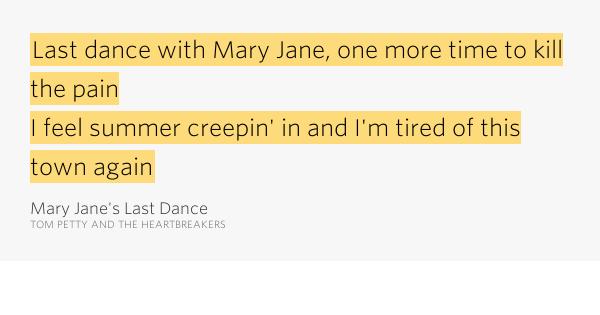 An Analysis Of Mary Janes Last Dance By Tom Petty Homework Academic