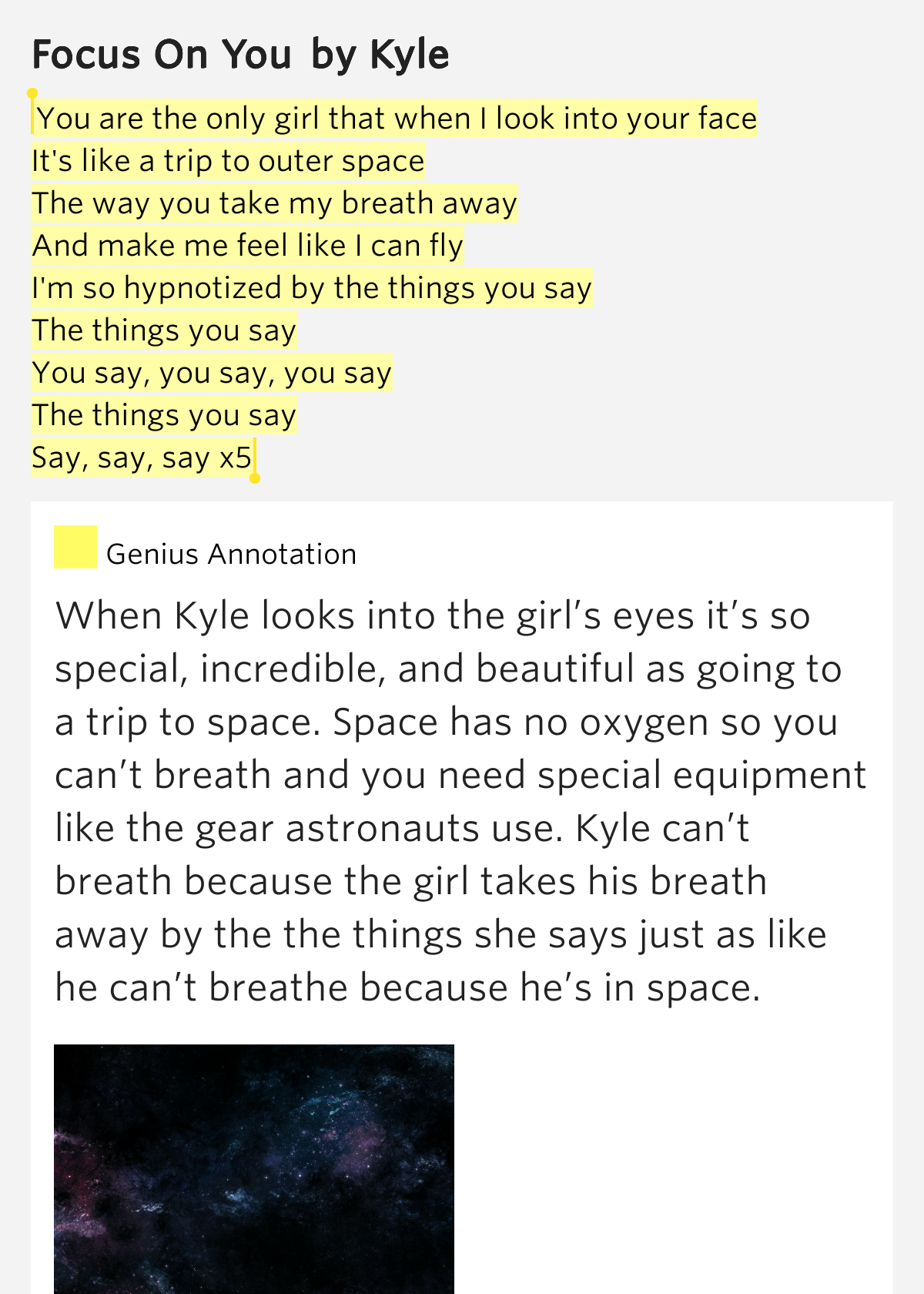 Say you me lyrics meaning