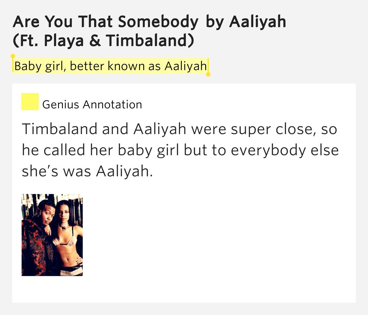 Aaliyah - Are You That Somebody Lyrics | MetroLyrics