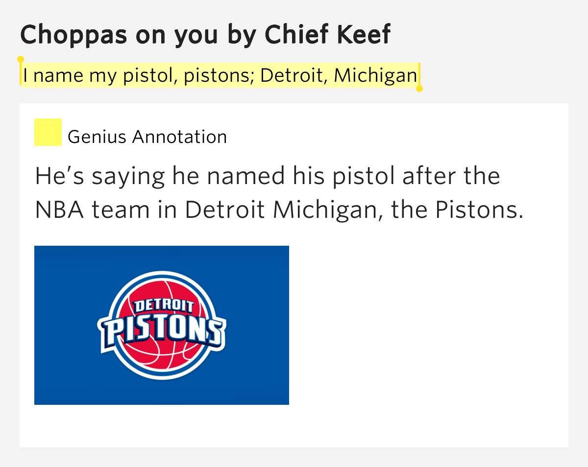 I name my pistol, pistons; Detroit, Michigan – Choppas on ...