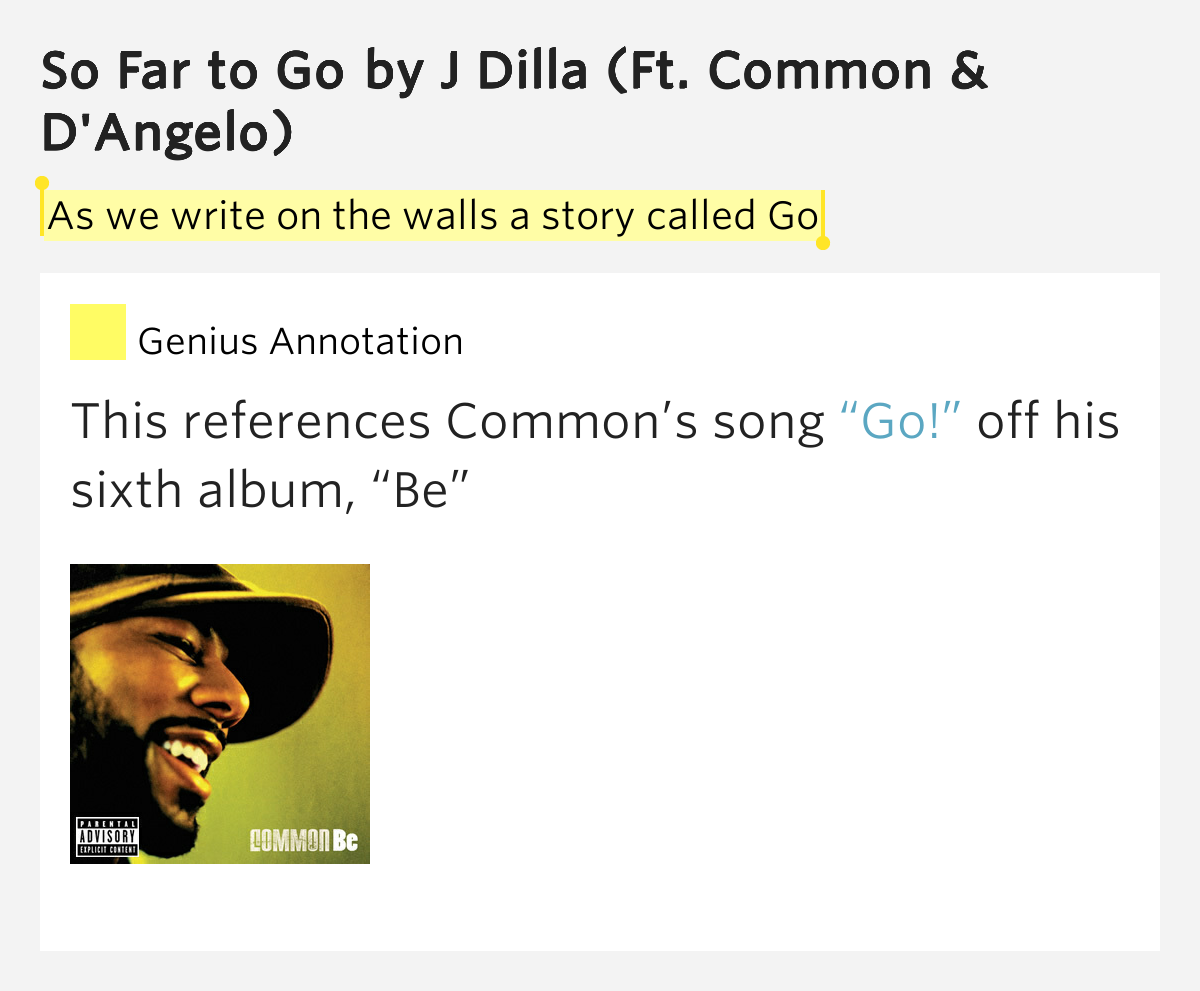 Common – So Far to Go Lyrics | Genius Lyrics