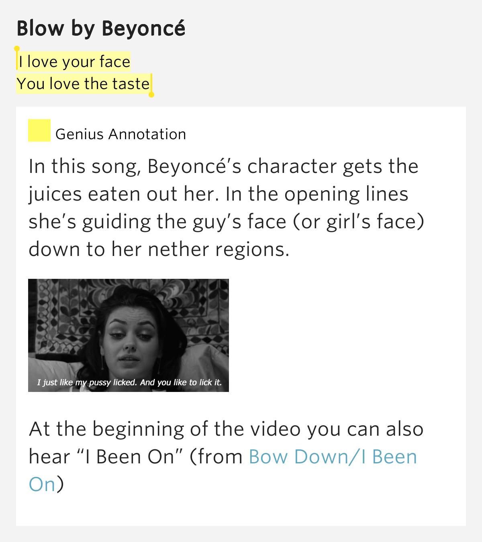 Beyoncé – Blow Lyrics | Genius Lyrics