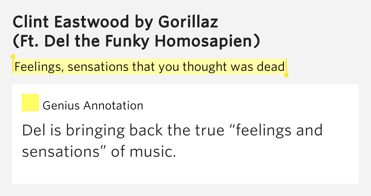 Clint eastwood gorillaz lyrics