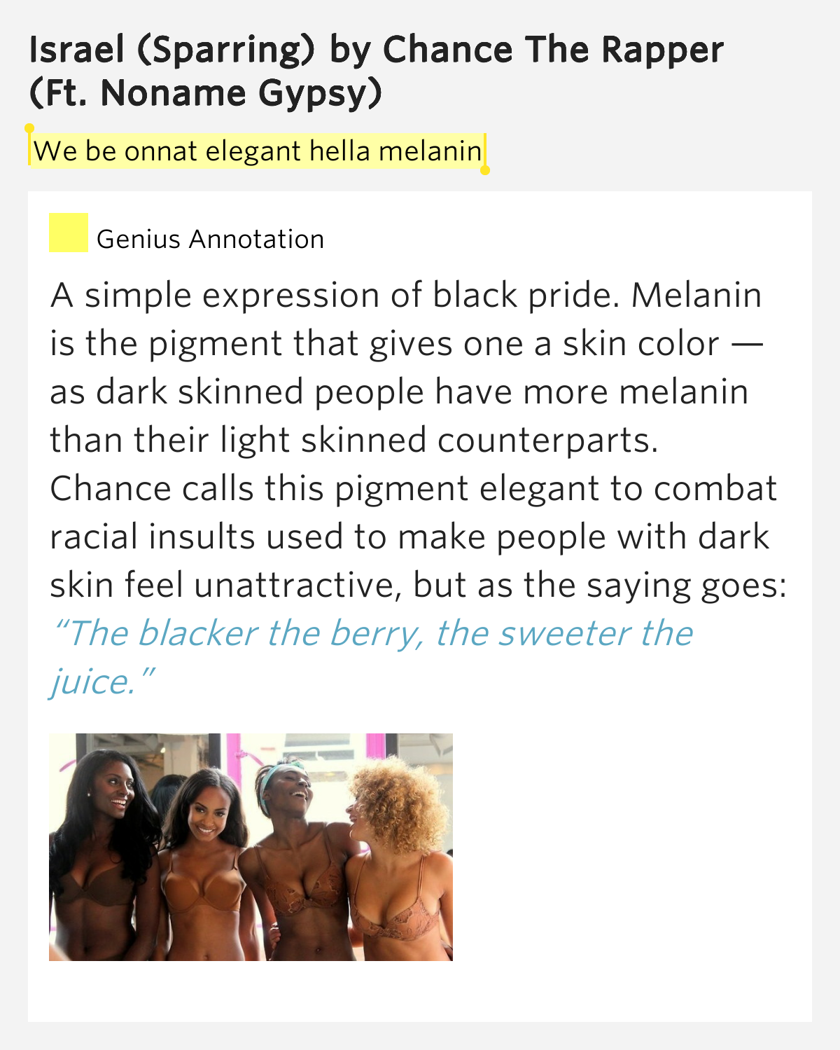 We Be Onnat Elegant Hella Melanin Israel Sparring Lyrics Meaning