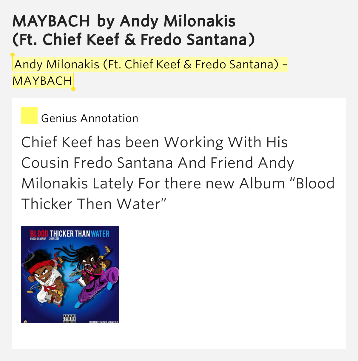 Andy Milonakis (Ft. Chief Keef & Fredo Santana) – MAYBACH ...