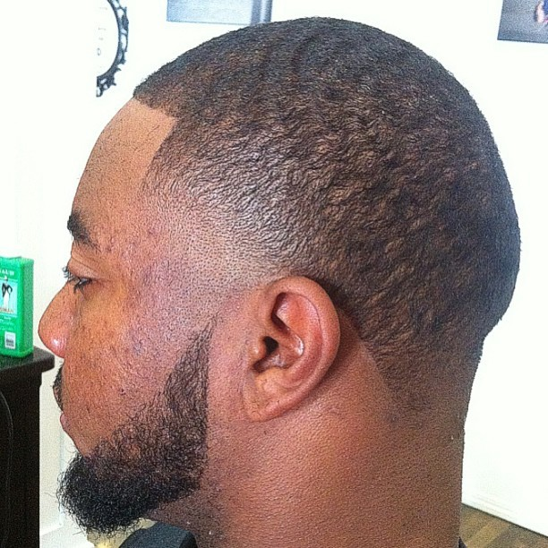 Dark Caesar Haircut Black Men Dark Caesar Haircut Image