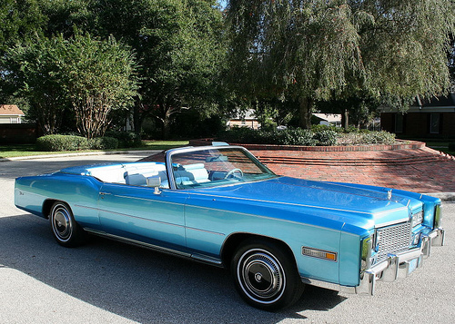 Just Bought A '77 Baby Blue Cadillac