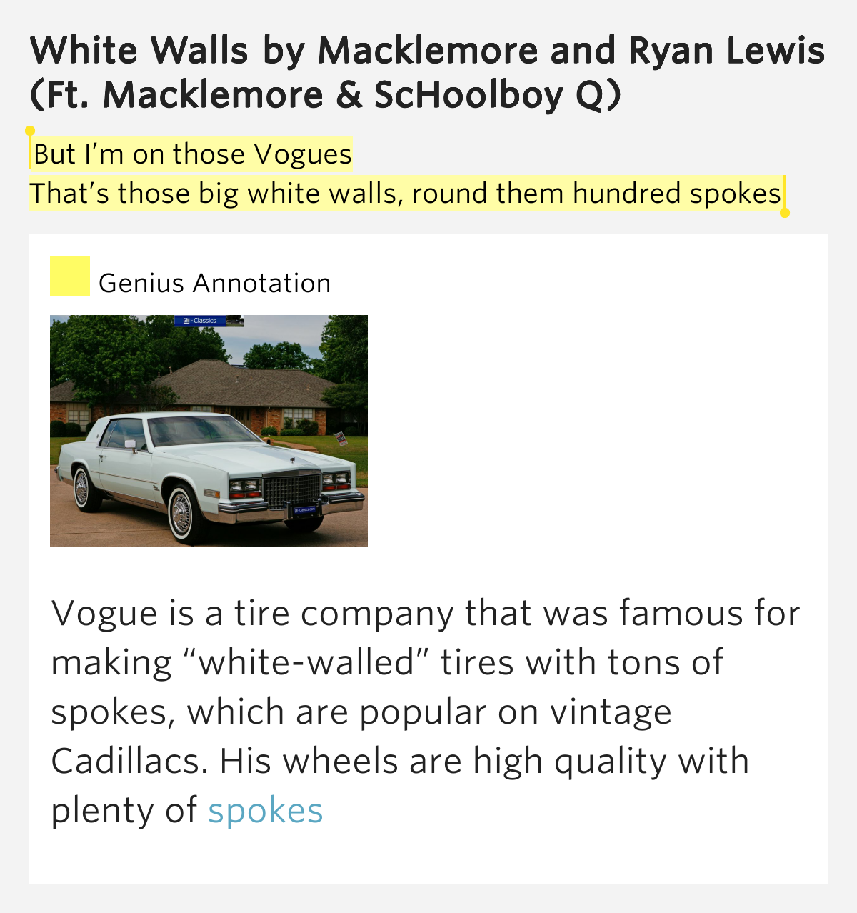 but i m on those vogues that s those big white white walls. Cars Review. Best American Auto & Cars Review
