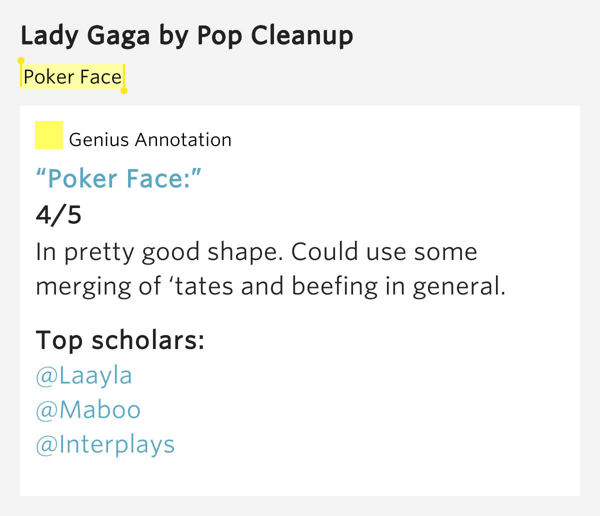 Poker face slang meaning