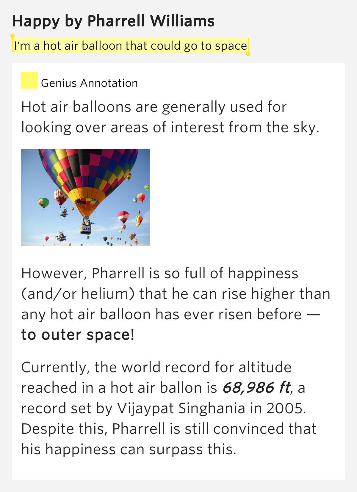 I'm a hot air balloon that could go to space – Happy