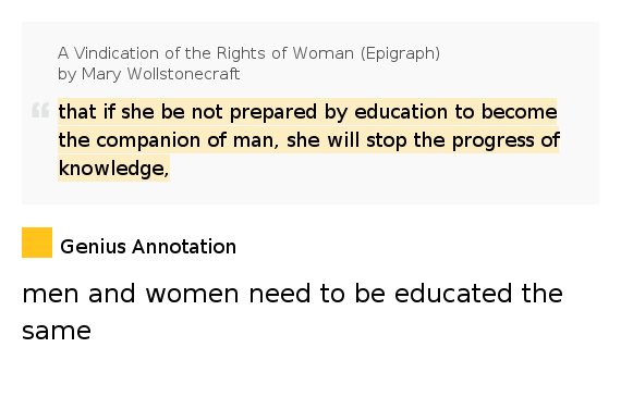 Quotes From A Vindication Of The Rights Of Woman: That If She Be Not Prepared By Education To..