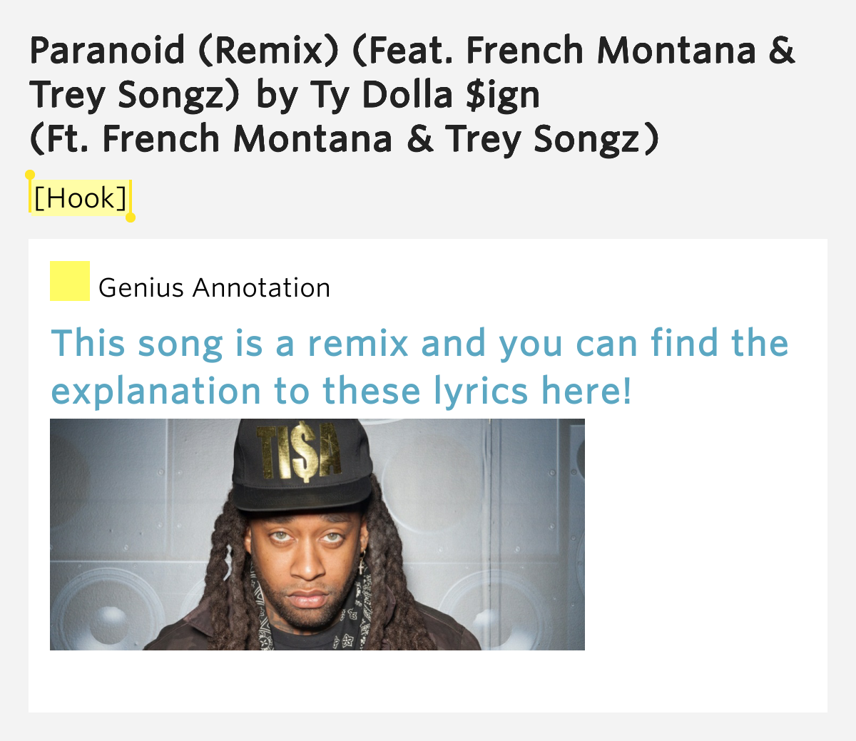 paranoid ty dolla sign lyrics - photo #4