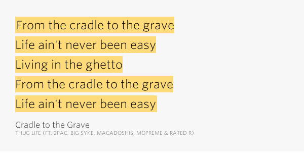 THUG LIFE F/ 2PAC - CRADLE TO THE GRAVE LYRICS