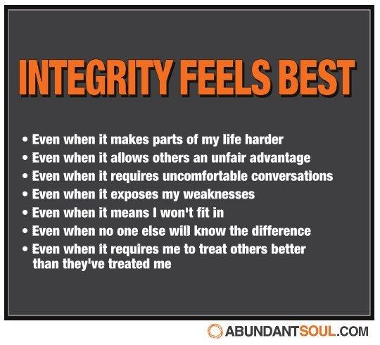 Integrity song lyrics