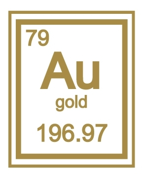 Gold au 79 chemical element periodic table gold au periodic table urtaz Images