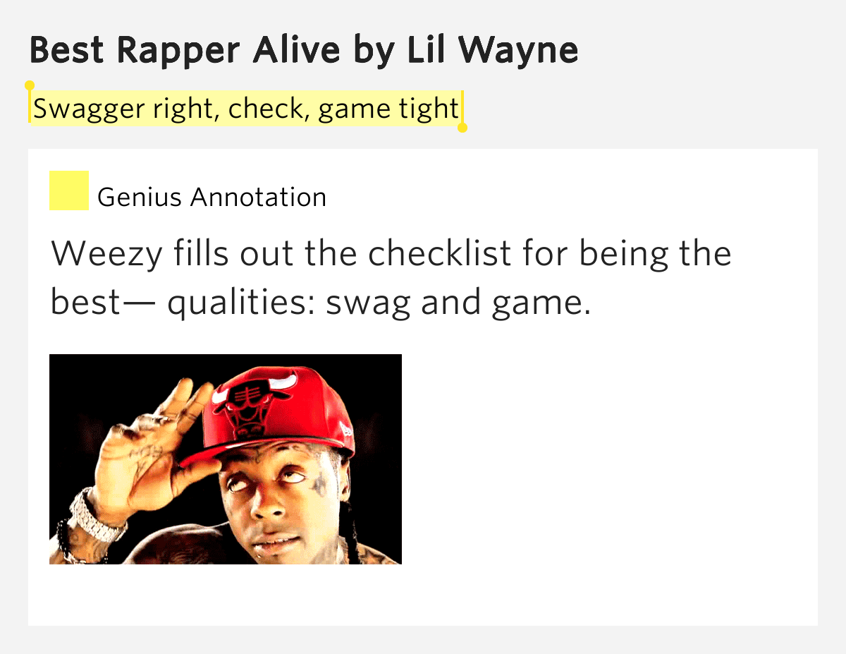 lil wayne the best rapper alive essay American music awards the american music awards is an annual award ceremony created by dick clark in 1974 lil wayne received six nominations.