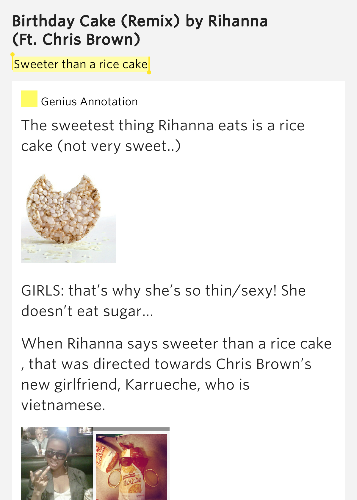 Rihanna Birthday Cake Lyrics Rap Genius