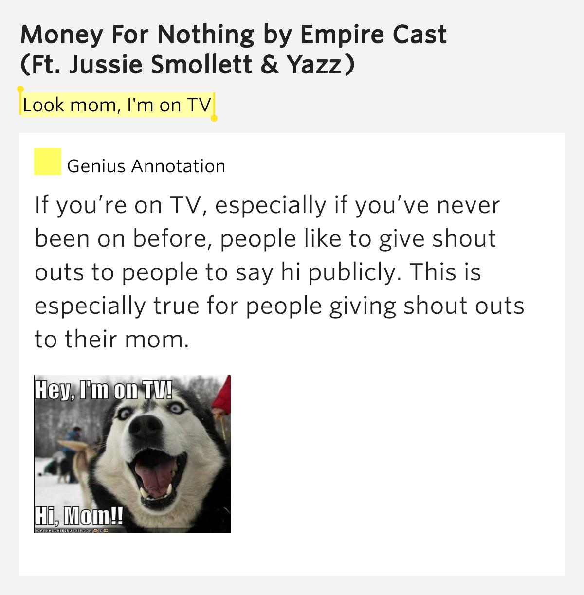 empire soundtrack money for nothing lyrics