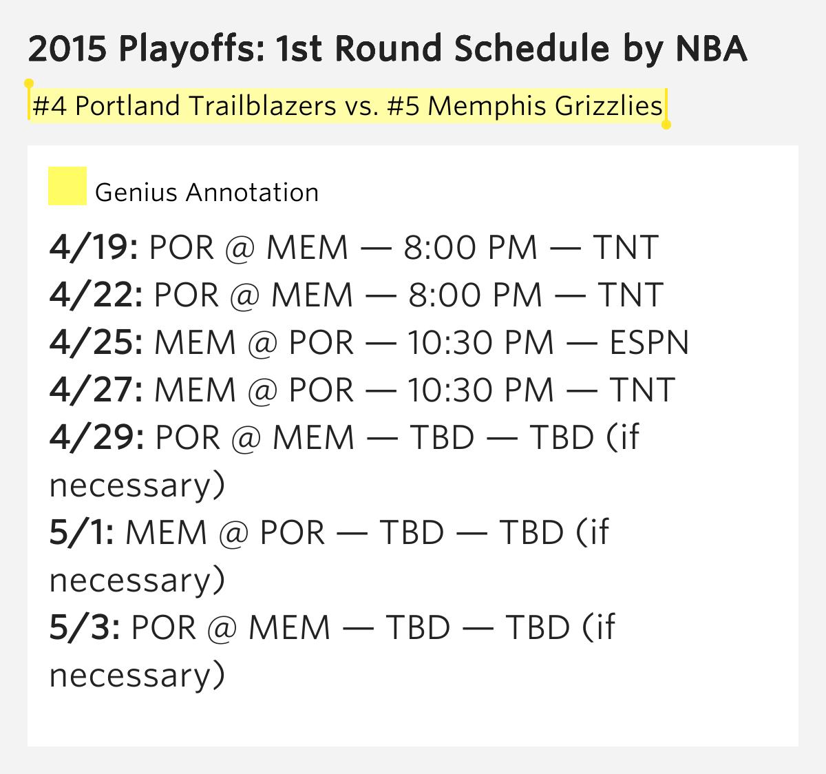 Portland Blazers Schedule: #4 Portland Trailblazers Vs...