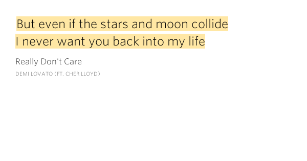 But Even If The Stars And Moon Collide I Really Don 39 T Care