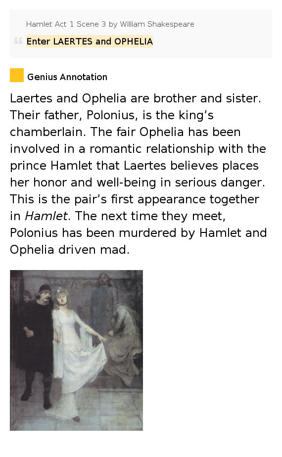 hamlets treatment of ophelia essay