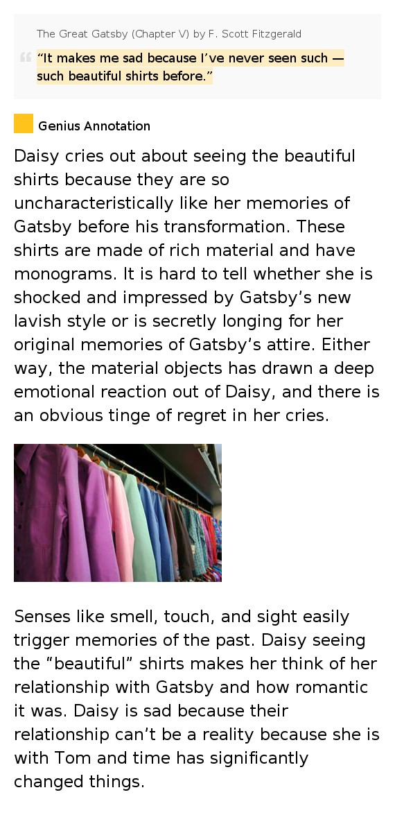 reality vs illusion in fitzgeralds the great gatsby The great gatsby compare the great gatsby and a streetcar named desire   desire and fate reality vs illusion / prentence light.