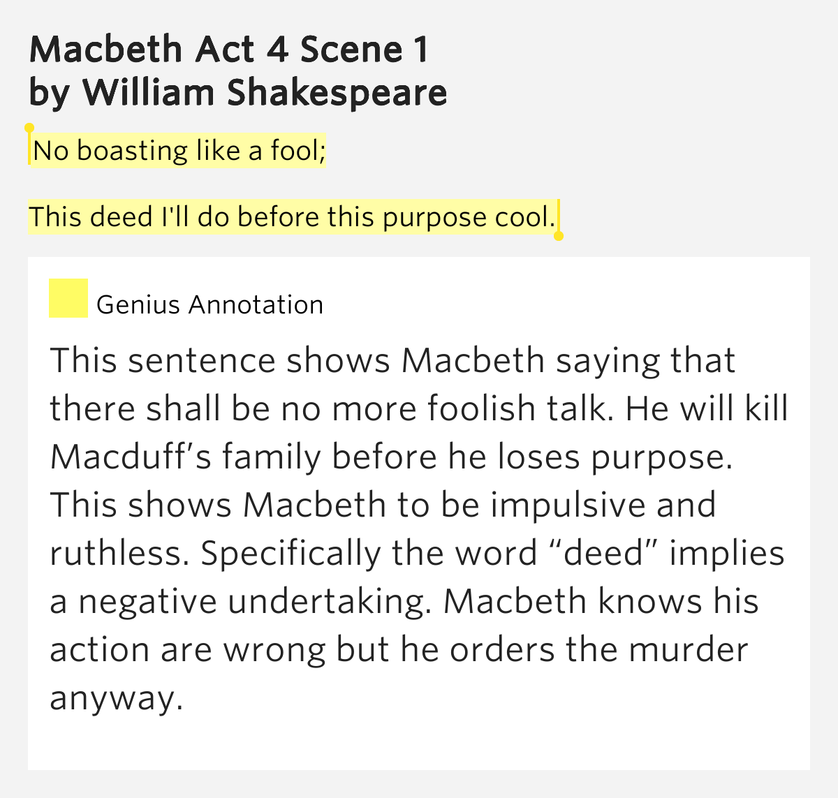 macbeth ruthlessness Macbeth has subconsciously changed his character throughout the play to  him  from being a complete ruthless and cold-blooded murderer.