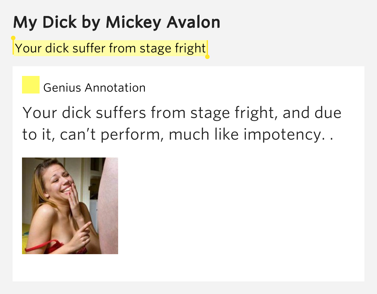 Think, you mickey avalong my dick right! think