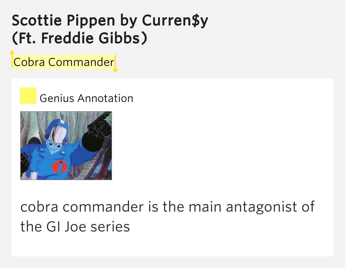 Cobra Commander Scottie Pippen By Curren Y