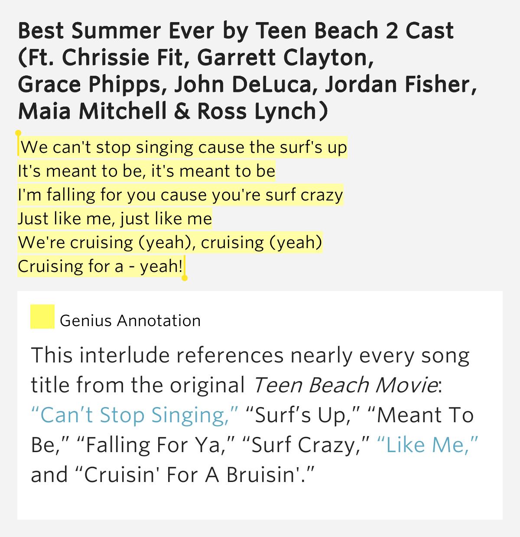 teen beach movie lyrics we can t stop singing cause the