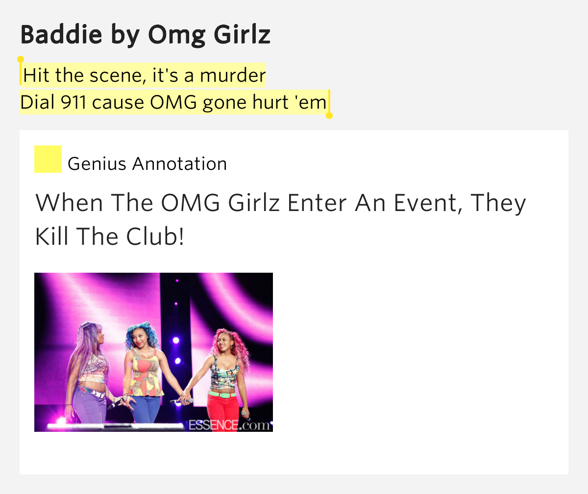 omg girlz song quotes