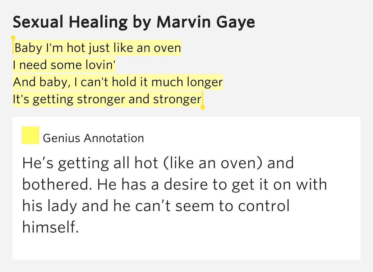bersetzung Marvin Gaye - Sexual Healing Songtext